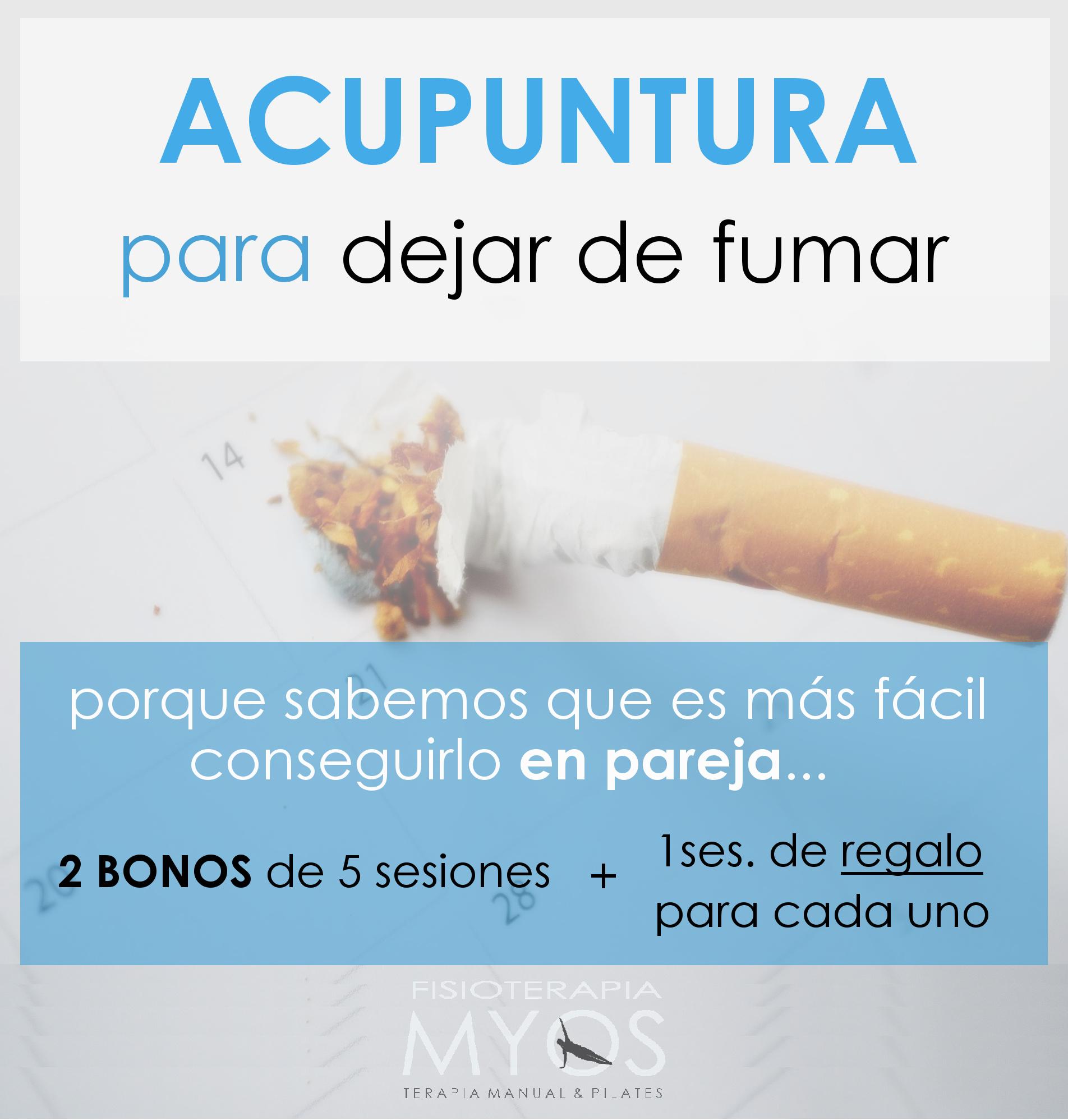 Acupuntura para dejar de fumar Fisioterapia Myos