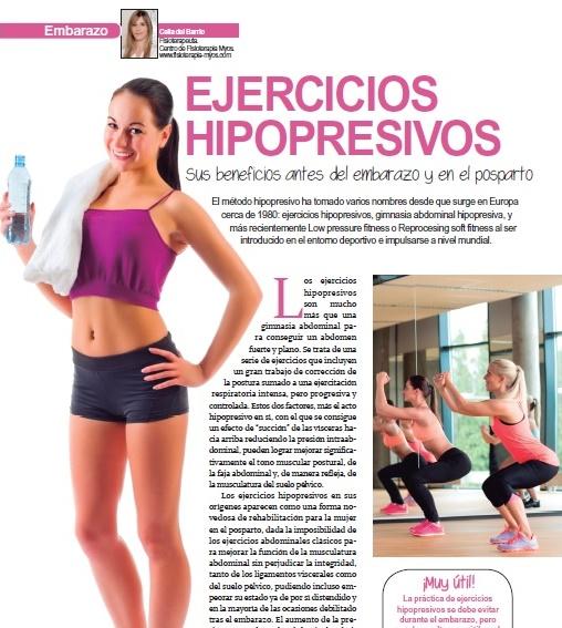 EJERCICIOS HIPOPRESIVOS, sus beneficios antes del embarazo y en el postparto. Revista Mi Pediatra.