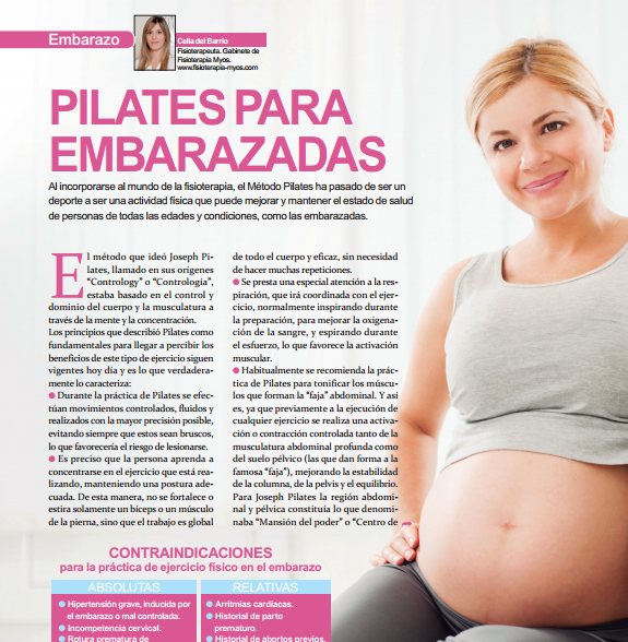 PILATES PARA EMBARAZADAS. Revista Mi Pediatra.