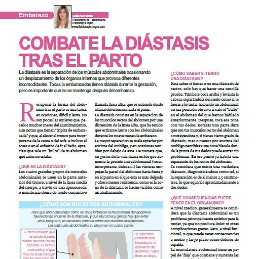 COMBATE LA DIÁSTASIS TRAS EL PARTO. Revista Mi Pediatra.