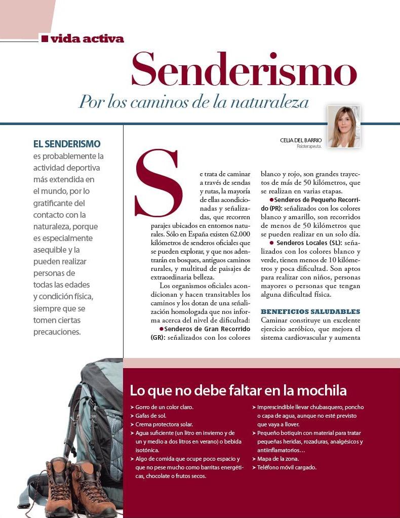 SENDERISMO. Revista Vivir Sano a partir de los 50.